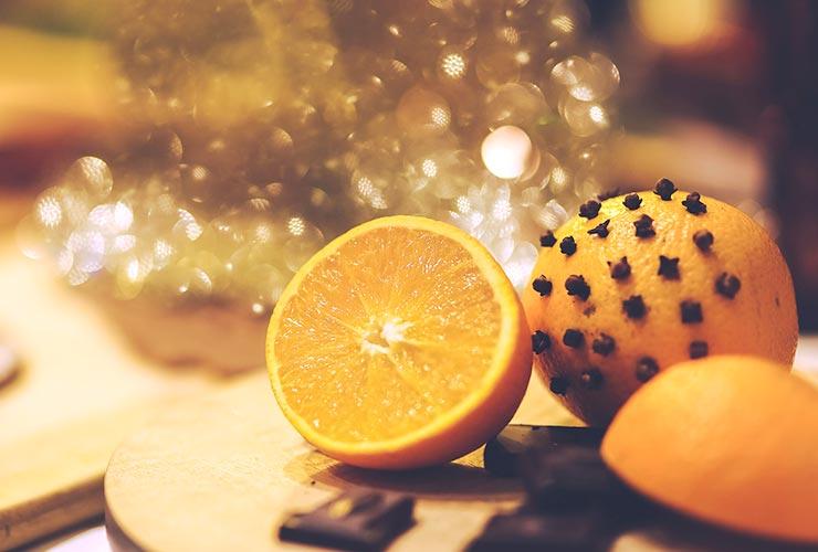 クローブを使ったオレンジポマンダー